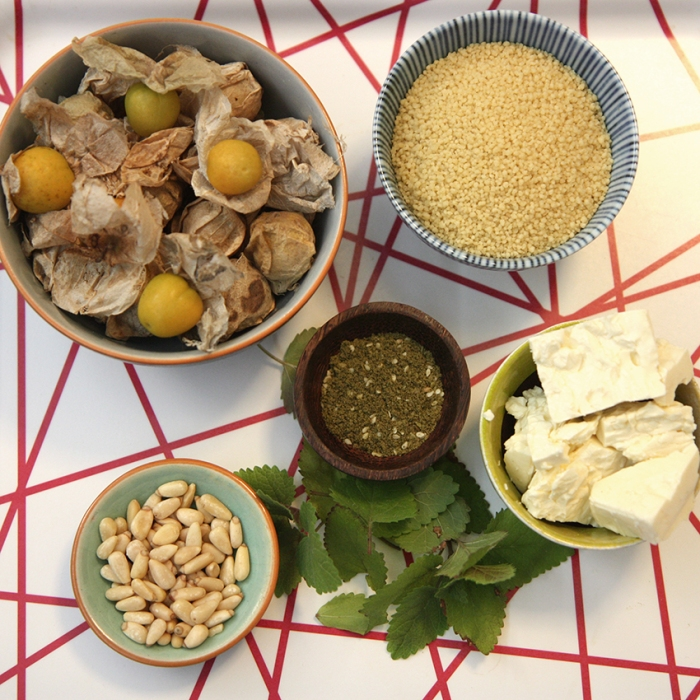 Chinese Gooseberry cous cous ingredients